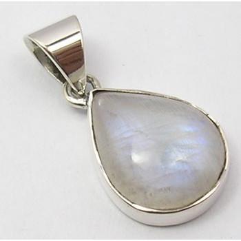 Pandantiv Argint 925 cu Piatra Lunii 2.5 cm lungime