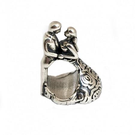 Talisman Argint 925 rodiat Cuplu Simulated Diamond