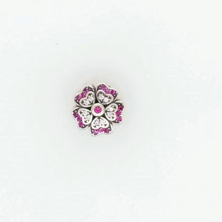 Talisman Argint 925 rodiat Floare cu zirconiu multicolor