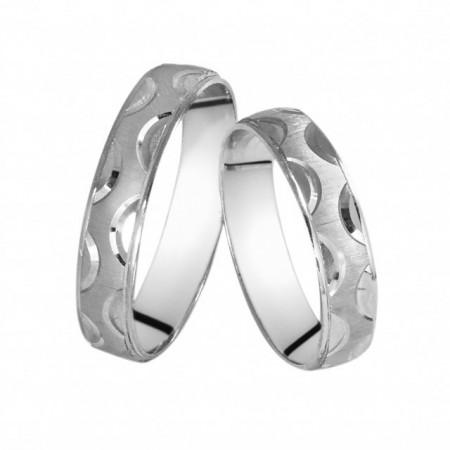 Verighete din Argint 925 rodiat. Cod: AF0455