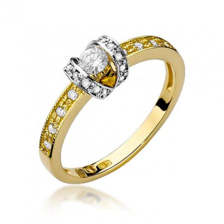 Inel Aur 14k cu Diamant0.25 ct