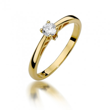 Inel Aur 14k cu Diamant 0.24 ct