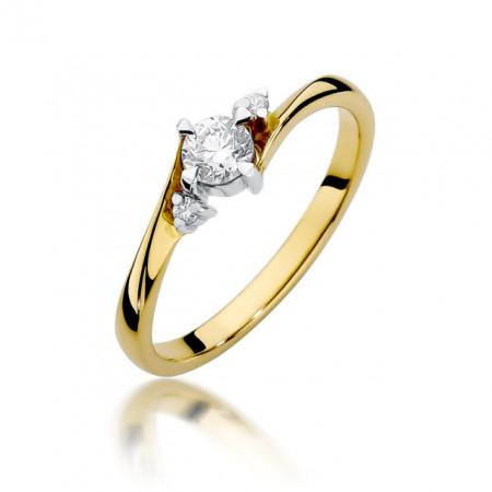 Inel Aur 14k cu Diamant 0.28 ct