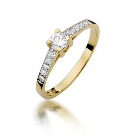 Inel Aur 14k cu Diamant 0.44 ct