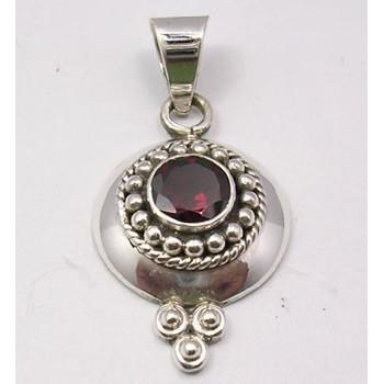 Pandantiv din Argint cu Garnet 3,6 cm