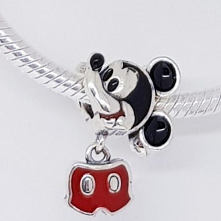 Talisman Argint 925 rodiat Mickey Mouse-Simulated Diamond
