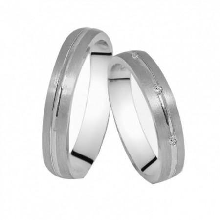 Verighete din Argint 925 rodiat si zirconiu- Simulated Diamond- Cod: AT1511