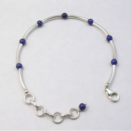 Poze Bratara din Argint cu Lapis Lazuli