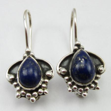 Cercei Argint 925 cu Lapis Lazuli 2.5 cm lungime