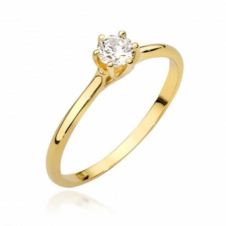 Inel Aur 14k cu Diamant 0,26 ct