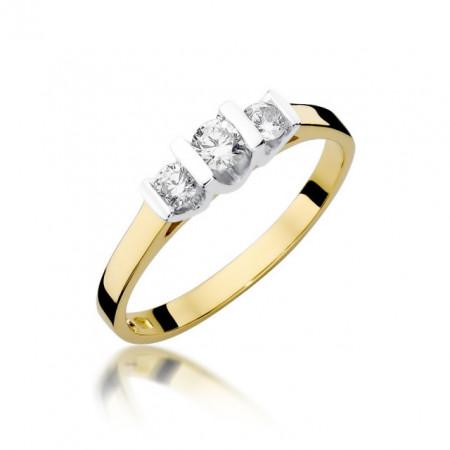 Inel Aur 14k cu Diamant 0.31 ct