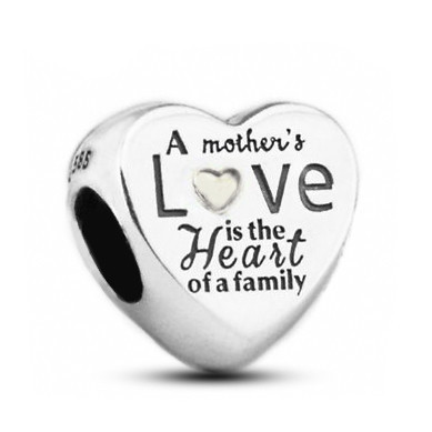 Talisman Argint 925 rodiat A mother love in the heart of a family
