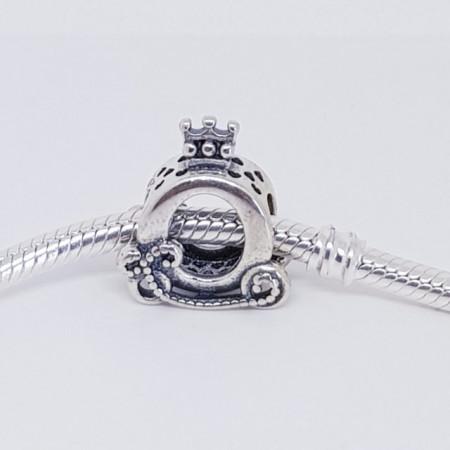 Talisman Argint 925 rodiat Caleasca de printesa Simulated Diamond