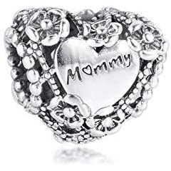Talisman Argint 925 rodiat Mommy Simulated Diamond