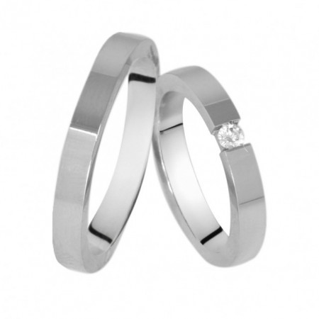 Verighete din Argint 925 rodiat si zirconiu- Simulated Diamond-Cod: AT2501