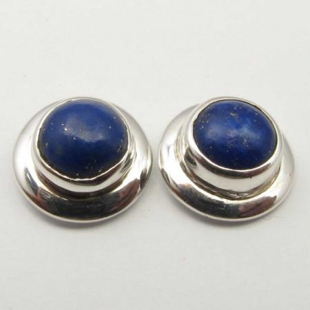 Cercei Argint 925 cu Lapis Lazuli, 0.9 cm lungime