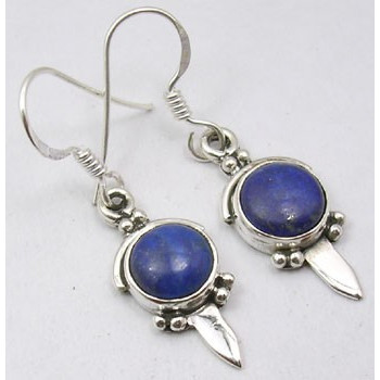 Poze Cercei Argint cu Lapis Lazuli (3,6 cm)