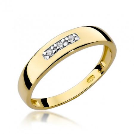 Inel Aur 14K cu Diamant 0.05 ct