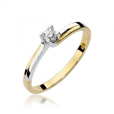 Inel Aur 14k cu Diamant 0.08 ct