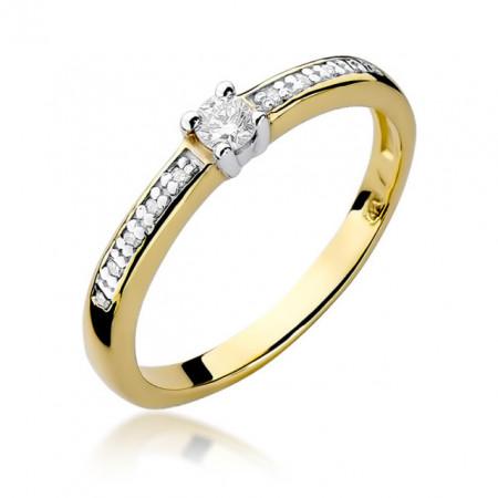 Inel Aur 14k cu Diamant 0.131 ct