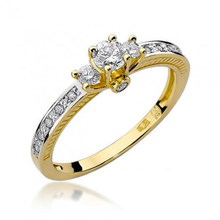 Inel Aur 14K cu Diamant 0.42 ct
