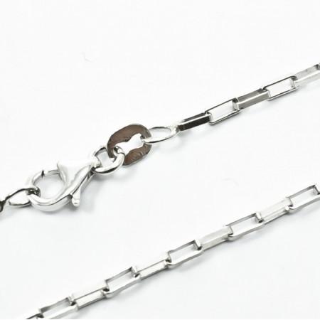 Lant B. C. Argint 925, rodiat, lungime 60cm
