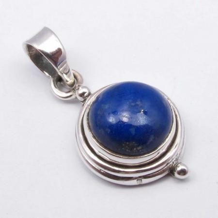 Pandantiv Argint 925 cu Lapis Lazuli 2.5 cm lungime
