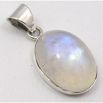 Pandantiv Argint 925 cu Piatra Lunii 2.8 cm lungime