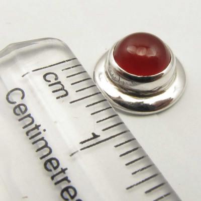 Cercei Argint 925 cu Carnelian, 0.9 cm lungime
