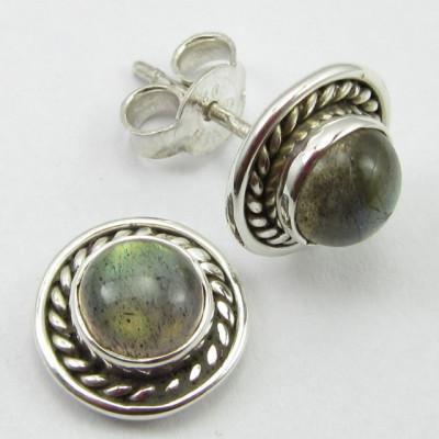 Cercei Argint 925 cu Labradorit 1 cm lungime