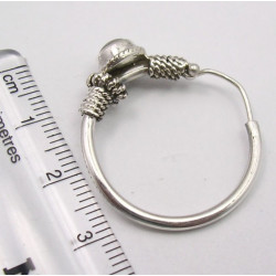 Cercei Argint 925 cu Piatra Lunii, 3.1 cm lungime