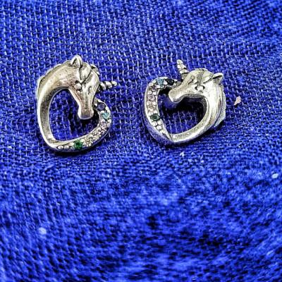 Cercei Argint 925 rodiat Unicorn