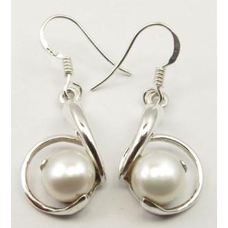 Cercei Argint cu Perla FreshWater 3,6 cm
