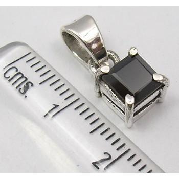 Pandantiv Argint 925 cu Onyx Negru 1.4 cm lungime