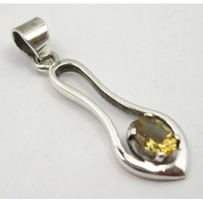 Pandantiv din Argint cu Citrin 3,7 cm