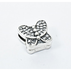 Talisman Argint 925 rodiat Butterfly si zirconiu- Simulated Diamond