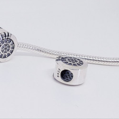 Talisman Argint 925 rodiat Cerc cu pietricele Simulated Diamond