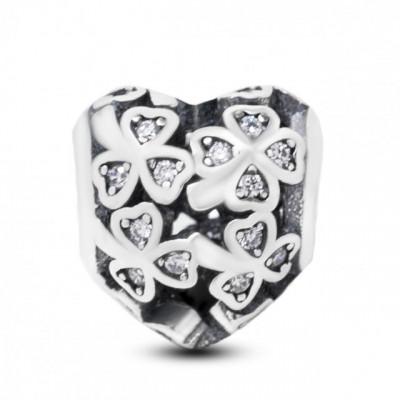Talisman Argint 925 rodiat Inima