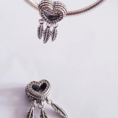 Talisman Argint 925 rodiat Inimioara prinzatoare de vise Simulated Diamond