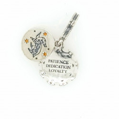 Talisman Argint 925 rodiat Patience Dedication Loyalty