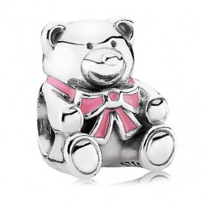 Talisman Argint 925 rodiat Pink Teddy