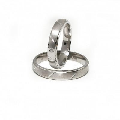 Verighete Argint 925 rodiat si zirconiu- Simulated Diamond- Cod: AT2336