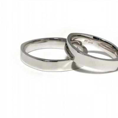 Verighete din Argint 925 rodiat. Cod: AF2195