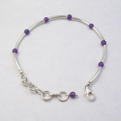 925 Silver Amethyst Bracelets