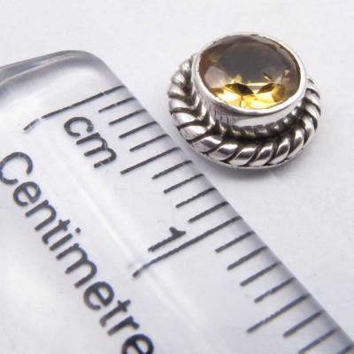 Cercei Argint 925 cu Citrin, 0.8 cm lungime