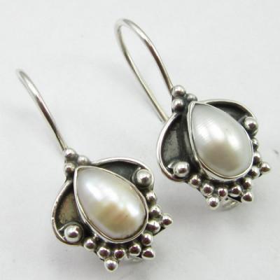 Cercei Argint 925 cu Perla FreshWater 2.5 cm lungime