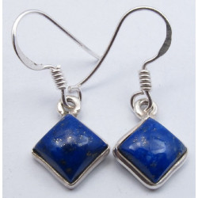 Cercei Argint cu Lapis Lazuli (2,9 cm)