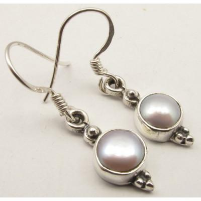Cercei Argint cu Perla FreshWater (3 cm).