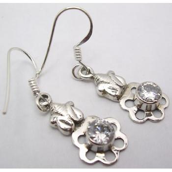 Cercei Argint cu Zirconiu Cubic (3,5 cm)