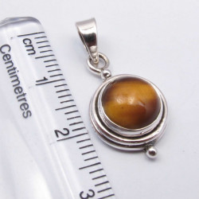 Pandantiv Argint 925 cu Ochi de Tigru 2.5 cm lungime
